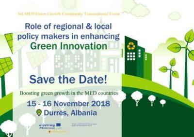 MED Green Growth Community, primo incontro tecnico in Albania per  la crescita sostenibile