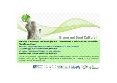 Green nei Beni Culturali – Corso di aggiornamento professionale